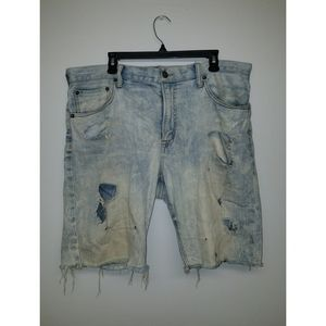 American Eagle *CUSTOM* Distressed Denim Shorts